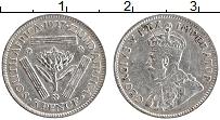 Изображение Монеты ЮАР 3 пенса 1927 Серебро XF Георг V