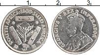 Изображение Монеты ЮАР 3 пенса 1935 Серебро XF Георг V
