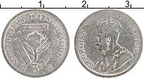 Изображение Монеты ЮАР 3 пенса 1933 Серебро VF Георг V