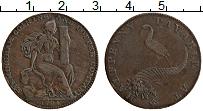 Изображение Монеты Великобритания 1/2 пенни 1794 Медь XF Токен. Бирмингем