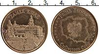 Изображение Монеты Польша Жетон 0 Латунь UNC- Замок Ксенж. Польска