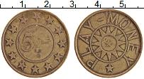 Изображение Монеты США Жетон 0 Латунь VF Игровой жетон