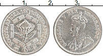 Изображение Монеты ЮАР 6 пенсов 1936 Серебро XF- Георг V