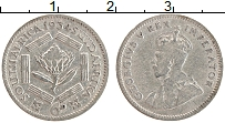 Изображение Монеты ЮАР 6 пенсов 1934 Серебро VF Георг V