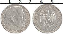 Изображение Монеты Третий Рейх 5 марок 1936 Серебро XF Гинденбург А
