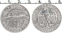 Изображение Монеты Веймарская республика 3 марки 1930 Серебро UNC- А Дирижабль Граф Цеп