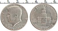 Изображение Монеты США 1/2 доллара 1976 Медно-никель XF D 200 лет независимо
