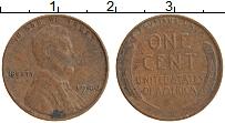 Изображение Монеты США 1 цент 1940 Медь XF Линкольн