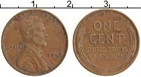 Изображение Монеты США 1 цент 1942 Медь XF Линкольн