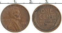 Изображение Монеты США 1 цент 1948 Медь XF Линкольн