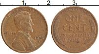 Изображение Монеты США 1 цент 1956 Медь XF D. Линкольн