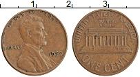 Изображение Монеты США 1 цент 1959 Медь XF Линкольн