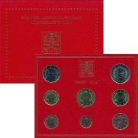 Изображение Подарочные монеты Ватикан Годовой Евронабор 2015 года 2015  UNC
