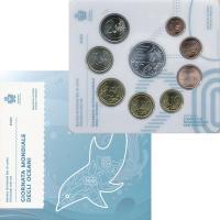 Изображение Подарочные монеты Сан-Марино Всемирный день океанов 2020  UNC Годовой набор монет