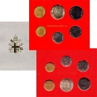 Изображение Подарочные монеты Ватикан Anno III 1981 1981  UNC В наборе 6 монет: 10