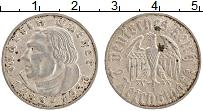 Изображение Монеты Третий Рейх 2 марки 1933 Серебро XF J. 450 лет со дня ро