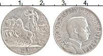 Изображение Монеты Италия 1 лира 1913 Серебро XF Виктор Эммануил III