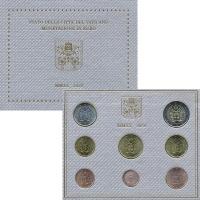 Изображение Подарочные монеты Ватикан Набор 2020 года 2020  UNC Набор 2012 года выпу