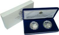 Изображение Подарочные монеты Сан-Марино Великие мореплаватели 1997 Серебро Proof