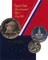 Изображение Подарочные монеты США 200-летие независимости 1976 Серебро Proof Набор посвящен 200-л
