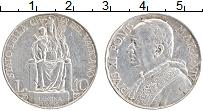 Изображение Монеты Ватикан 10 лир 1935 Серебро XF Пий XI