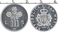 Изображение Монеты Сан-Марино 5 лир 1987 Алюминий UNC- Цветы