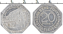 Изображение Монеты Германия : Нотгельды 20 пфеннигов 1920 Алюминий UNC- Нюрнберг. Трамвай