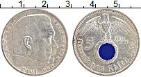 Изображение Монеты Третий Рейх 5 марок 1937 Серебро XF A. Пауль фон Гинденб
