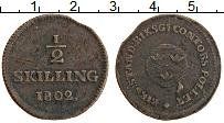 Изображение Монеты Швеция 1/2 скиллинга 1802 Медь XF- Густав IV Адольф
