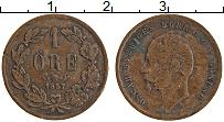 Изображение Монеты Швеция 1 эре 1857 Медь XF Оскар
