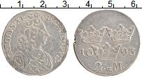 Изображение Монеты Швеция 2 марки 1693 Серебро XF- Карл XI