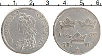 Изображение Монеты Швеция 2 марки 1669 Серебро XF Карл XI