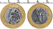 Изображение Монеты Бразилия 1 реал 2008 Биметалл XF