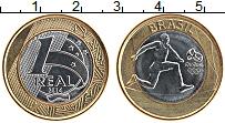 Изображение Монеты Бразилия 1 реал 2014 Биметалл UNC XXXI Летние олимпийс