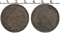 Изображение Монеты Швеция 2 скиллинга 1842 Медь VF+ Карл XIV Юхан