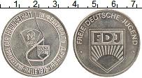 Изображение Монеты ГДР Медаль 1975 Медно-никель UNC Третий фестиваль дру
