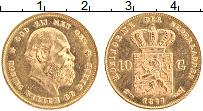 Изображение Монеты Нидерланды 10 гульденов 1877 Золото UNC- Виллем III (КМ# 106