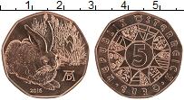 Продать Монеты Австрия 5 евро 2016 Медь