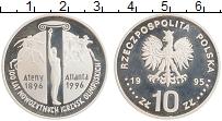 Изображение Монеты Польша 10 злотых 1995 Серебро Proof- Олимпийские игры в А