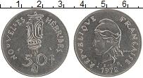 Изображение Монеты Новые Гебриды 50 франков 1972 Медно-никель UNC-