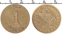 Изображение Монеты Великобритания Жетон 0 Латунь XF 1 Токен. Игровой жет