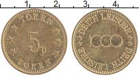 Изображение Монеты Великобритания Жетон 0 Латунь XF 5 пенсов токен