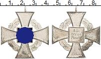 Изображение Значки, ордена, медали Третий Рейх Медаль 0 Посеребрение XF Крест за 25 лет верн
