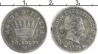 Изображение Монеты Италия 10 сольди 1810 Серебро XF- Наполеон I