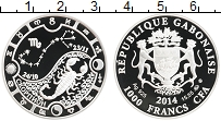 Продать Монеты Габон 1000 франков 2014 Серебро