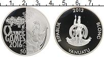 Изображение Монеты Вануату 50 вату 2013 Серебро Proof Олимпийские игры 201
