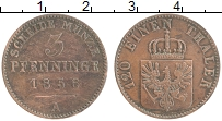 Изображение Монеты Пруссия 3 пфеннига 1856 Медь XF А