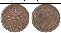 Изображение Монеты Дания 1 ригсбанкскиллинг 1853 Медь XF Фредерик VII