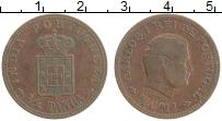 Изображение Монеты Португальская Индия 1/4 таньга 1901 Медь XF- Карлос I