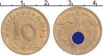 Изображение Монеты Третий Рейх 10 пфеннигов 1938 Латунь XF G